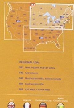 Livres Couvertures de Carte Northeastern USA Eastern Canada Michelin