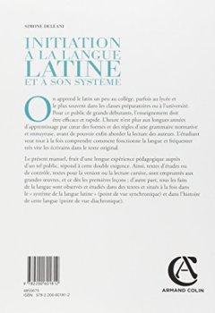 Livres Couvertures de Initiation à la langue latine et à son système - 4e éd. - Manuel pour les grands débutants