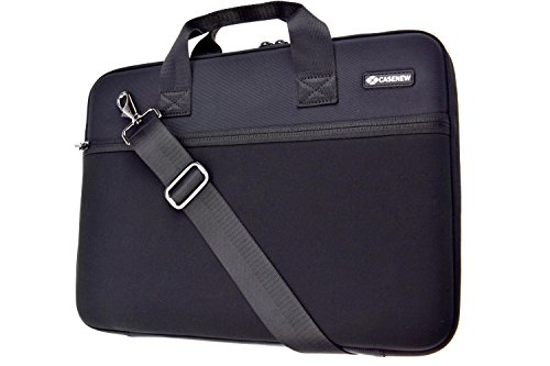 Case-New-Hard-EVA-Carrying-Case-Laptop-Shoulder-Bag-Notebook-Sleeve-Computuer-Briefcase-for-13Inch-MacBook-Airwith-Adjustable-Shoulder-Strap-and-Protective-EVA-Foam-Padding-Compartment-Black