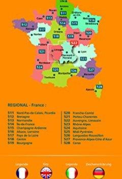 Livres Couvertures de Carte Auvergne, Limousin Michelin 2018