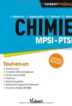 Livres Couvertures de Chimie MPSI-PTSI - Tout-en-un - Conforme au nouveau programme