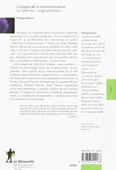 Livres Couvertures de L'utopie de la communication : Le mythe du « village planétaire »