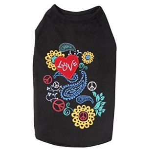Dog T-shirts: Flower Child