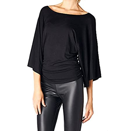 Our 3/4 Kimono Sleeve Knit Top is a great choice for brunch or a casual day of shopping with friends. This cool and comfortable knit top features a scoop neckline, 3/4 length kimono style sleeves, and ruched sideseam detailing. Complete the look with...