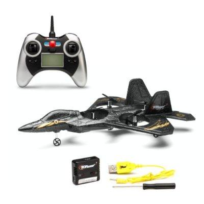 Top-Race-F22-Fighter-Jet-4-Channel-RC-Remote-Control-Quad-Copter-RTF-Black