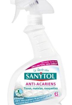 Livres Couvertures de Sanytol - 33635110 - Désinfectant Anti-Acariens - 300 ml - Lot de 4
