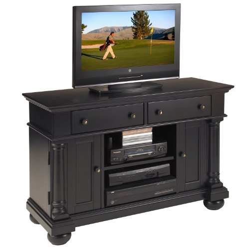 Image of Home Styles St Croix TV Stand, Black (88-5901-09)