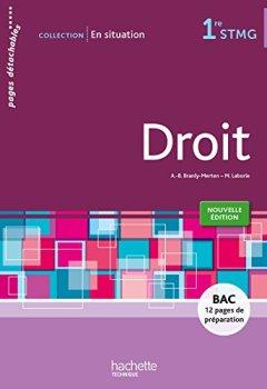Livres Couvertures de En situation Droit 1re STMG - Livre élève consommable - Ed. 2015