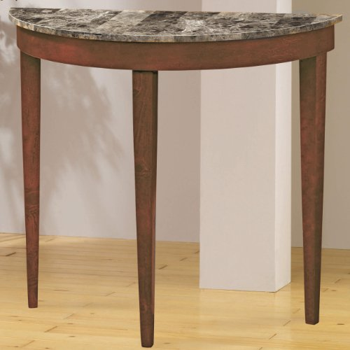 Image of Entry Way Console Table with Faux Marble Top in light cherry Finish (VF_AZ00-47740x29884)