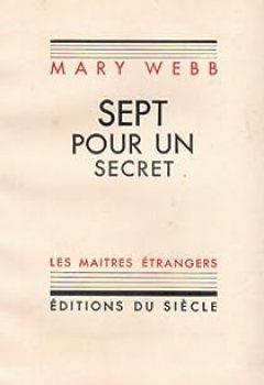Livres Couvertures de Sept pour un Secret / Edition Original1933 Numerote