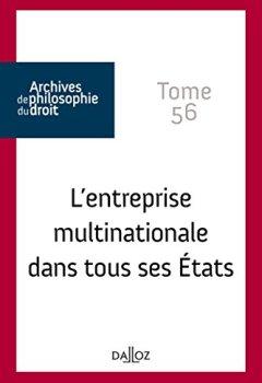 Livres Couvertures de L'entreprise multinationale dans tous ses États. Tome 56