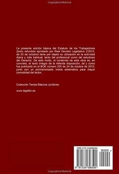 Portada del libro deEstatuto de los Trabajadores (Real Decreto Legislativo 2/2015): 2.ª edición (2016). Colección Textos Básicos Jurídicos