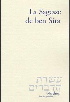 Livres Couvertures de La Sagesse de Ben Sira