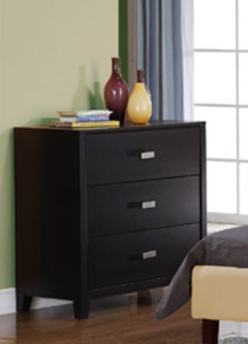 Image of Kids Dresser with Silver Handle in Espresso Finish (VF_F4828)