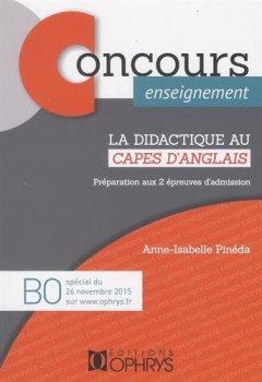 Livres Couvertures de La didactique au CAPES d'anglais : Préparation aux 2 épreuves d'admission