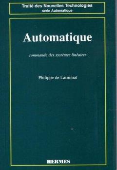 Livres Couvertures de Automatique : Commande des systèmes linéaires