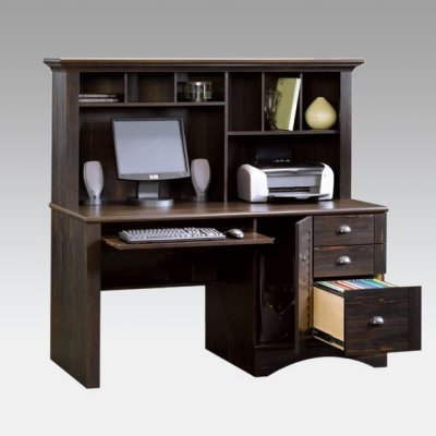 Picture of Comfortable Harbor View Computer Desk and Hutch - Antiqued Paint (B003LLBJ0A) (Computer Desks)