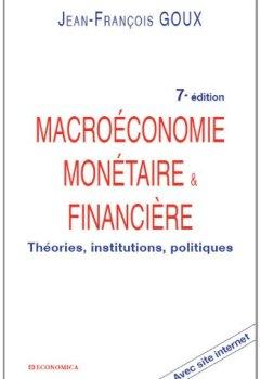 Livres Couvertures de Macroéconomie monétaire et financière