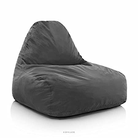 Enjoy movies, video games or dorm life in comfort on the shredded foam lounge chair by LUCID. This adult-sized chair is filled with shredded foam for plenty of cushiness and support. The back has a reinforcing strap to hold the chair's shape, while a...