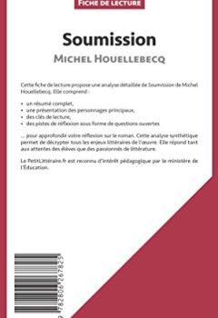 Livres Couvertures de Soumission de Michel Houellebecq (Fiche de lecture): Résumé Complet Et Analyse Détaillée De L'oeuvre