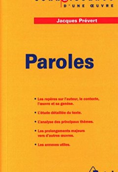 Livres Couvertures de Paroles, Jacques Prévert