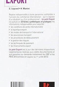Livres Couvertures de Le petit Export 2015 - 9e édition - Les pratiques clés en 20 fiches