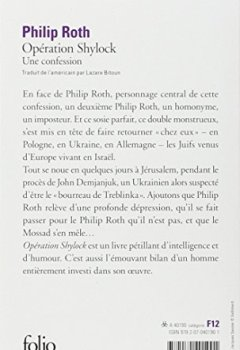 Livres Couvertures de Opération Shylock : Une confession