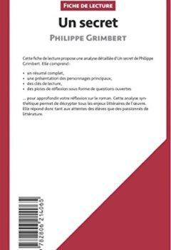 Livres Couvertures de Un secret de Philippe Grimbert (Fiche de lecture): Résumé Complet Et Analyse Détaillée De L'oeuvre