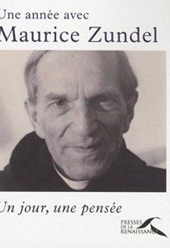 Livres Couvertures de Une année avec Maurice Zundel