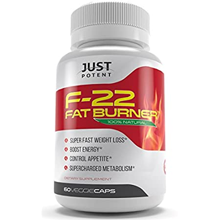 100% money back GUARANTEE if you're not completely satisfied with the F-22 or your result** What is Just Potent F-22 Fat Burner? The Just Potent F-22 fat burner is an all-natural pharmaceutical grade supplement full of meticulously chosen ingredi...
