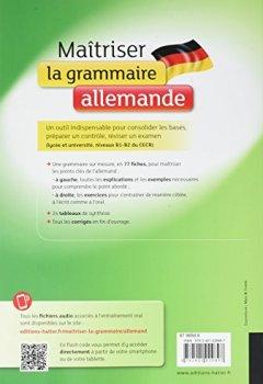 Livres Couvertures de Maîtriser la grammaire allemande: pour mieux communiquer à l écrit et à l oral Lycée et université (B1-B2)