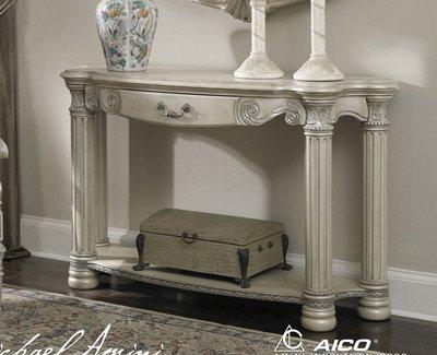 Image of Monte Carlo II Silver Pearl Console Table - Aico N53223-03 (N53223-03)