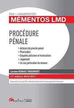 Livres Couvertures de Mémentos LMD - Procédure pénale 2016-2017