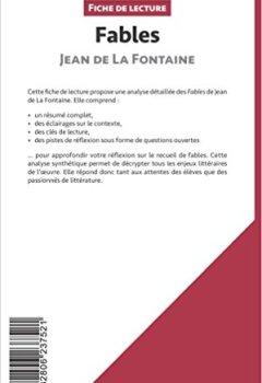 Livres Couvertures de Fables de Jean de La Fontaine (Fiche de lecture): Résumé Complet Et Analyse Détaillée De L'oeuvre