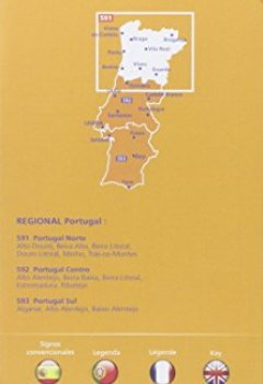 Livres Couvertures de Carte Portugal Nord Michelin