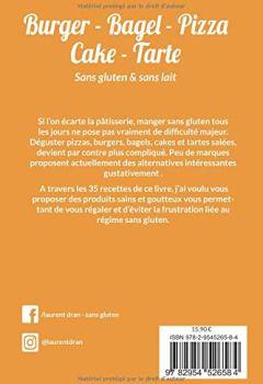 Livres Couvertures de Burger, Bagel, Pizza, Cake, Tarte sans gluten et sans lait