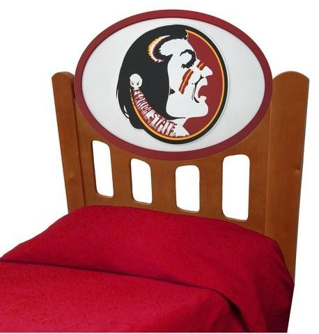 Image of FSU Florida State University Kids Wooden Twin Headboard With Logo (C0526S-Florida State)