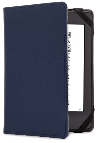 【Kindle Paperwhite カバー】 BUFFALO レザーカバー  ネイビー