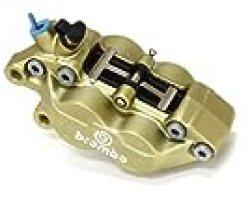 brembo(ブレンボ) 4ピストンキャリパー 左 ゴールド 4POT・キャスティング(鋳造)タイプ 20.5165.58