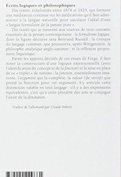 Livres Couvertures de Ecrits logiques et philosophiques
