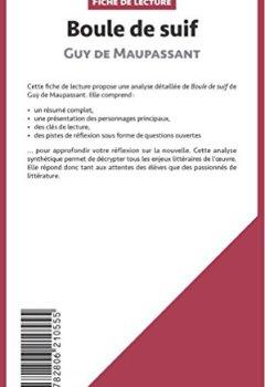 Livres Couvertures de Boule de Suif de Guy de Maupassant (Fiche de lecture): Résumé Complet Et Analyse Détaillée De L'oeuvre