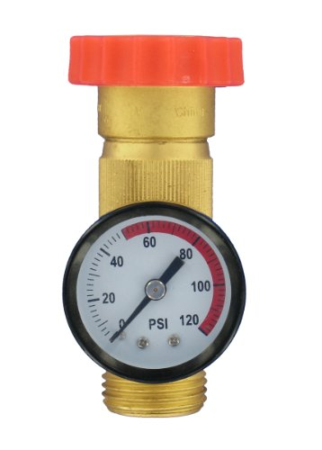 Valterra A01-1124VP Lead-Free Water Regulator and Gauge Combo