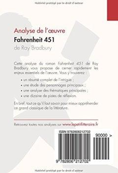 Livres Couvertures de Fahrenheit 451 de Ray Bradbury (Analyse de l'oeuvre): Comprendre la littérature avec lePetitLittéraire.fr