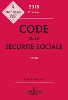 Livres Couvertures de Code de la sécurité sociale 2018, annoté - 42e éd.