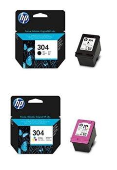 Livres Couvertures de HP 304 Set Noir (N9K06AE) + Color (N9K05AE) pour HP Deskjet 3720 3730
