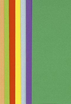 Livres Couvertures de Exacompta 800001E Paquet 100 Sous-Chemise en Papier 80g/m²  Vives 10 Couleurs Assorties