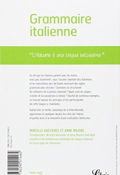 Livres Couvertures de Grammaire Italienne