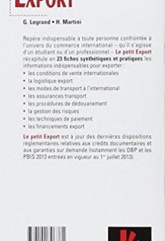 Livres Couvertures de Le petit Export 2014 - 8e édition - Les pratiques clés en 20 fiches