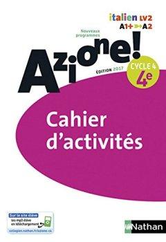 Livres Couvertures de Azione! - Cahier d'activités 4e