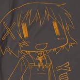 ひだまりスケッチ×☆☆☆ ゆの Tシャツ チャコール サイズ:L